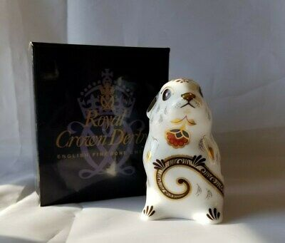 Royal Crown Derby Mouse Paperweight.  Perfect. Gold Stopper. Boxed.
