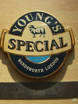 Beer. Pump clip. Young's. Young's Special. Wandsworth, London. Real ale.