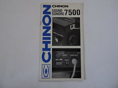 """""""chinon 7500""""  Super 8Mm Sound Projector Instruction Manual"""