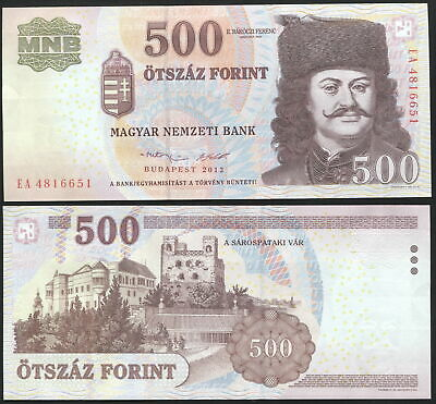 Hungary. 500 Forint. 2013 (Unc) Banknote Cat# P.196e