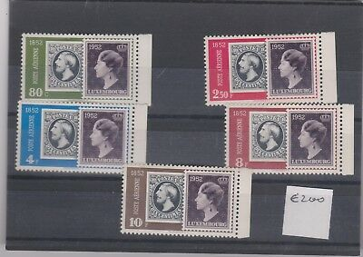 1952 Airmail - The 100th Anniversary of Luxembourg`s Stamps RRP $145 AS HINGED