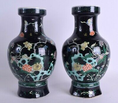 19th century antique Chinese Qing dynasty blue and white porcelain vase #91702