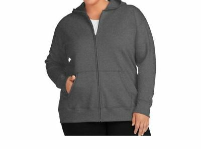 3a6d11a0dfb Just My Size by Hanes Women s Plus-Size Slub Jersey Full-Zip Hoodie 4X