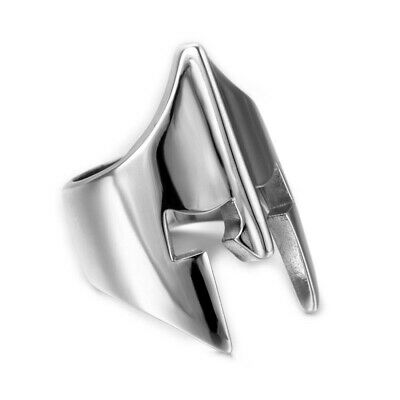 Ring Signet Ring Jewelry Man Helmet Armor Middle Ages Stainless Steel Silver