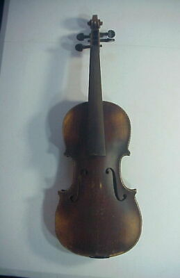 Antique EUROPEAN 19th C. VIOLIN w/ SPIRAL & MOTHER-OF-PEARL INLAY NEEDS RESTORE