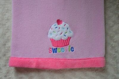 Baby Kiss Cupcake Sweetie Baby Blanket Pink White Heart Security Lovey  Sprinkles e4ab7ce28