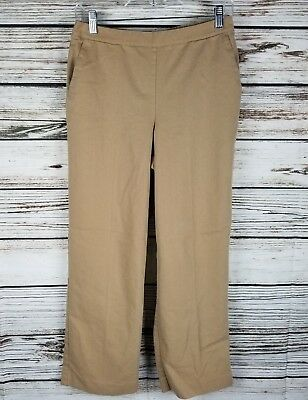 2d62c23802a Alfred Dunner Women s Pants Size 8 Petite Tan Pull On Elastic Waist Cropped
