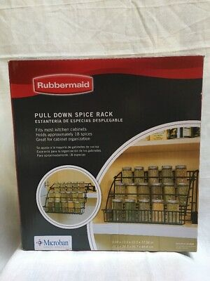 rubbermaid coated wire in cabinet spice rack storage organizer rh picclick com Wall Mounted Wire Spice Racks Wire Mesh Spice Racks