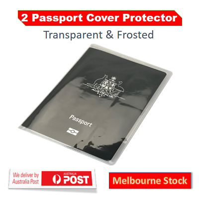 Travel Passport Cover Transparent Protector  Clear Frosted Organizer Wallet Case
