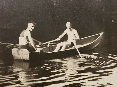 Antique Vintage Sunday Drive Boat Guys Fun Gay Int Vernacular Photography Photo