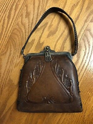 EARLY 1900S ANTIQUE Art Nouveau Leather Purse -  43.00   PicClick e59fd351e5