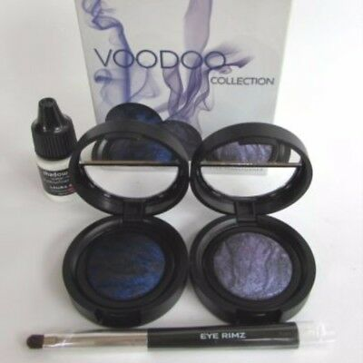 LAURA GELLER Voodoo Collection Eye Rims Baked Liner w Brush **Violet & Blue**