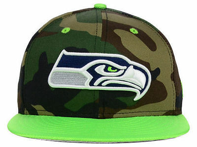 bd3233b25fd NFL Seattle Seahawks New Era Military Camo Pop Men Hat 59FIFTY Fitted Cap
