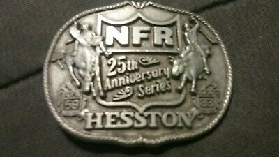 Vintage NFR Rodeo Hesston 1983 First Edition 25th Anniversary Belt Buckle