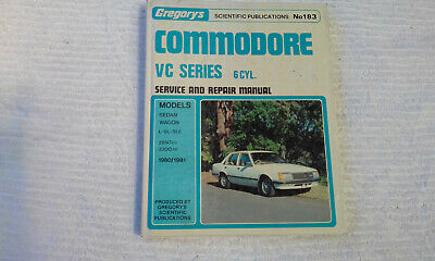Holden VC 6cyl Commodore Gregorys Workshop Manual 183 service repair