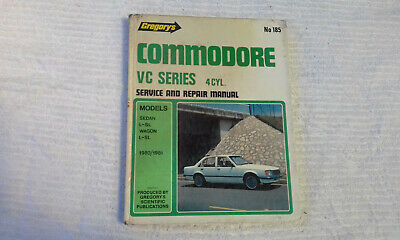 Holden VC 4cyl Commodore Gregorys Workshop Manual 185 service repair