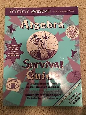 Algebra Survival Guide And Work Book, 2 Books, Great Math Study Book