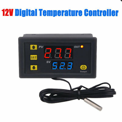 12V -55-120 ℃ Digital Temperature Controller Measurement Thermostat Switch LCD