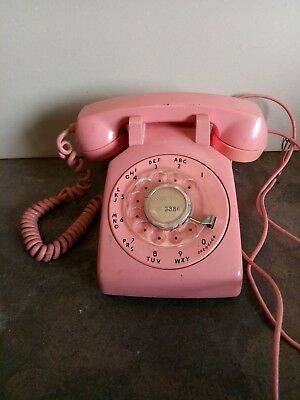 Vintage Pink Western Electric Bell System 500 Rotary Desk Telephone NR