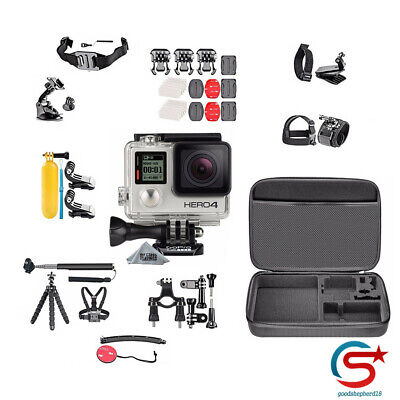 Silver Edition + Hero4 Accessory Kit Camera Camcorder For GoPro HERO4 (50 Piece)