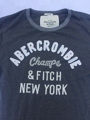 9f9c4570 ABERCROMBIE & FITCH New York Champs Muscle T-Shirt Mens M Gray Tee A ...