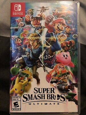 Super Smash Bros. Ultimate (Nintendo Switch, 2018) Used, Great Condition!