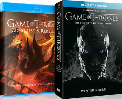 Game of Thrones: Complete Seventh Season / Conquest and Rebellion BLU-RAY NEW