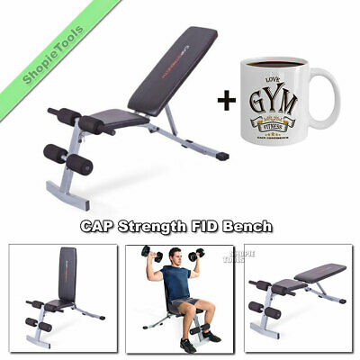 CAP Strength FID Bench Press Weight Lifting Workout Exercise Adjustable Home Gym