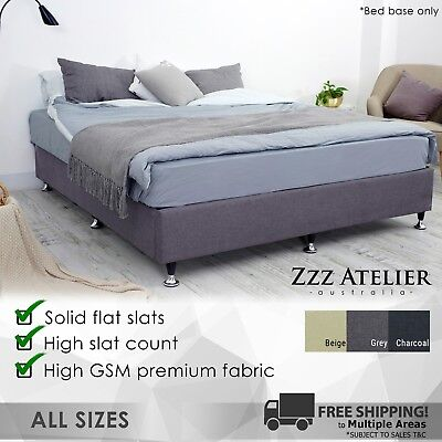 New Queen Double King Single Ensemble Mattress Bed Base Solid Slat Frame Support