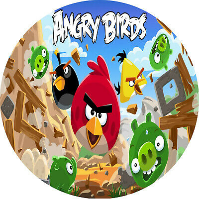 Angry Birds (1) - Edible Icing Image - Cake Topper - 19Cm Round