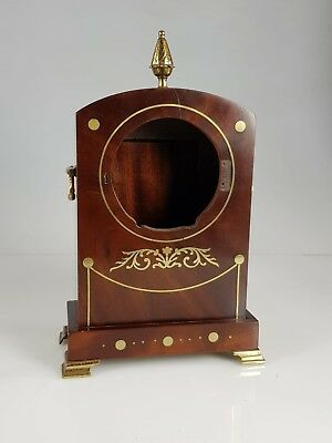 Miniature English Regency inlaid mahogany fusee bracket clock case Project No.2