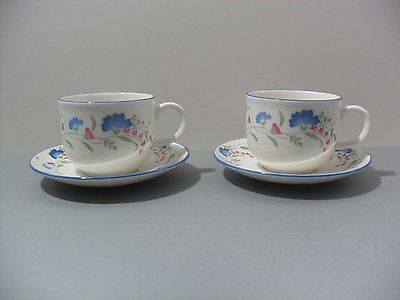 Royal Doulton Expressions Windermere Cup and Saucer x 2 Excellent Condition