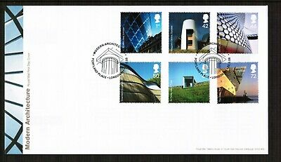 GB 2006 Modern Architecture set on FDC with pictorial postmark