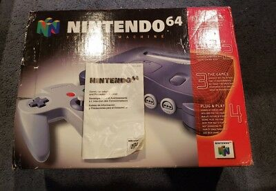 Nintendo 64 N64 Console Box & Manual Only NO SYSTEM