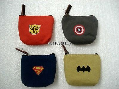 Childrens  Boys Girls Kids Party Loot Bags Zip Coin Purse