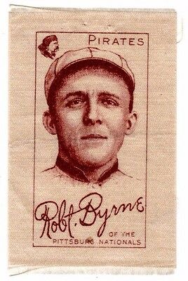 1910 - 1911 S74 Silks Robert Byrne - Pittsburgh Pirates, Excellent Condition!