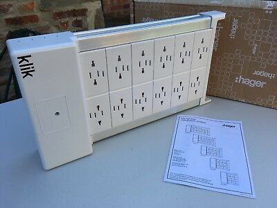 Hager Klik Marshalling Light/Lighting Distribution Box/Unit - 12-Way ~ KLDS12