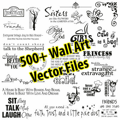 500 plus Vector Clip Art Quotes  for Wall Decals Stickers SVG EPS PDF format