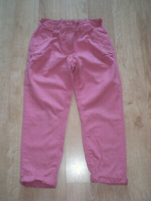 Girls Pink Cotton Trousers, Next, 5yrs