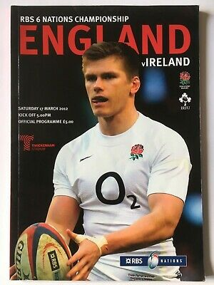 England v Ireland 2012 Wales' Triple Crown year 6 Nations Programme & Ticket