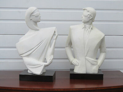 Austin Productions Mysterious 1 and 2 Pair of Sculptures by David Fisher 233B