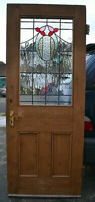 English leaded light stained glass internal /external door R707. DELIVERY OPTION