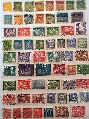 Sweden Stamp Collection Mainly Early From Old Albums