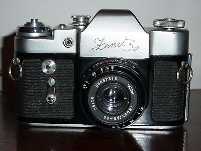 Zenit 3M 35Mm Slr. Made In Ussr. Good.