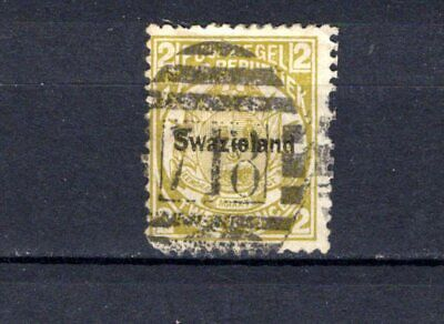 Swaziland. 1889-90. Transvaal opt. 2d olive bistre. Used.