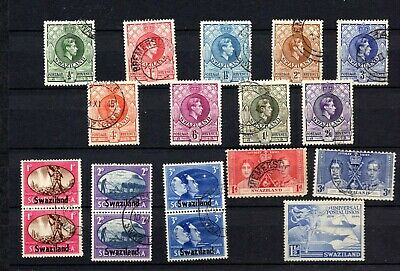Swaziland. 1938-1952. GVI. Short set to 2/6d and others. Used