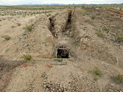 Arizona Gold Mine Au Claim Shaft Mining Lode Good Ore Massive Site Many Workings