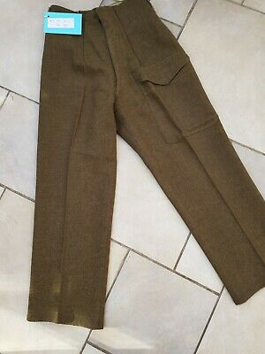 "Army trousers (used in WW1 play) c Waist 28"" (+5""), Leg 28.5"""