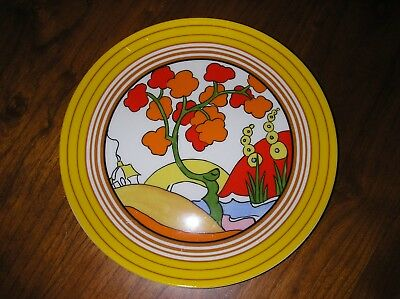 Clarice Cliff Hand Painted Bridgewater  Plate By Wedgwood In Pristine Condition