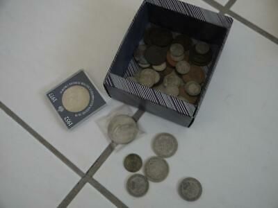 Small Collection Of Old British Coins Inc Some Pre 1948 Silver Eg Half Crowns